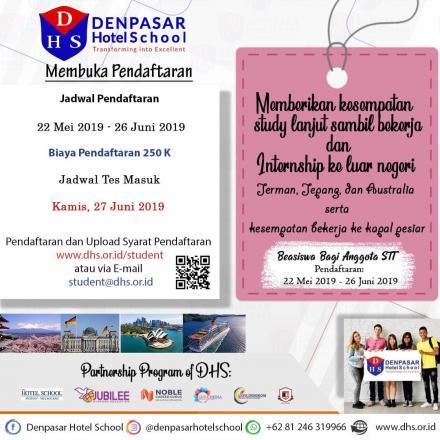 Denpasar Hotel School Berikan Beasiswa Bagi Muda Mudi Generasi Millenial